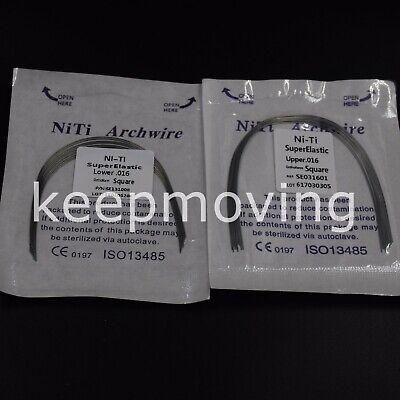 10 Pcs/pack Dental Orthodontic NITI Super Elastic Round Arch Wire 012~020 U/L 8