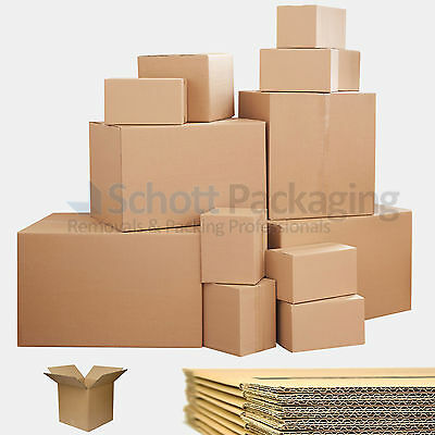 Strong Single & Double Wall Cardboard Boxes - Postal Removal Moving - Quality 2