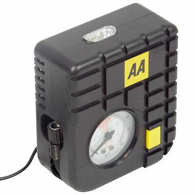 AA 12V Car Tyre Air Compressor Inflator LED Pump Pressure Gauge Cigarette Socket 3
