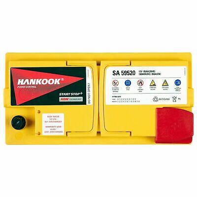Hankook 12V 95Ah AGM Start Stop Batterie de Démarrage Pour Voiture 352x174x190mm 3