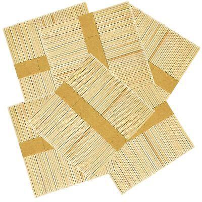 200 100 Wooden Craft Sticks Paddle Pop Popsicle Coffee Stirrers Ice Cream Stick 6