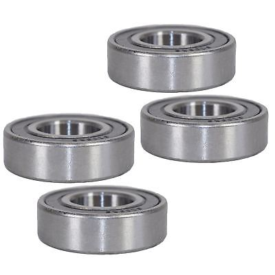 4 Sealed Trailer Wheel Hub Metric Ball Compact Bearings ID25 x OD52 x W15mm 3