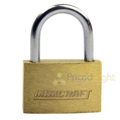 "2 pack Lot 1"" Inch Key Padlock Mini Tiny Small Brass Lock Luggage Toolbox Box 4"