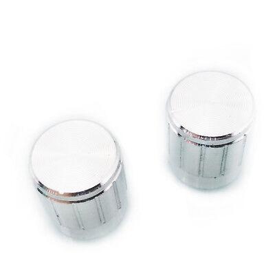 US Stock 10x Aluminum Hi-Fi CD Volume Tone Control Potentiometer Knob 6mm Silver