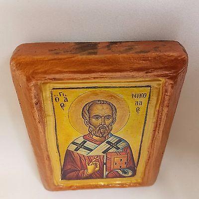 Saint Nicholas Nikolaos Agios Nikolas Rare Byzantine Greek Orthodox Icon Art 9