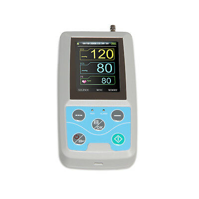FDA 3 CUffs Ambulatory Blood Pressure Monitor Digital 24 Hours NIBP Holter + CD 6