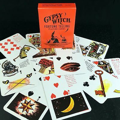 Gypsy Witch Tarot Deck Playing Cards Esoteric Telling Us Games Systems New 5