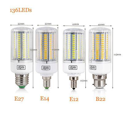 E27 E14 E12 B22 LED Corn Bulb 5730 SMD Light Corn Lamp Incandescent 20W - 160W 10