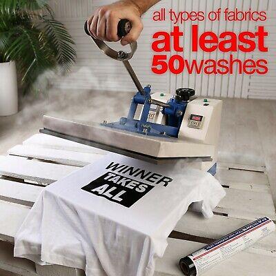 HTV Heat Transfer Vinyl Roll - Iron On Vinyl for T-Shirts (12in x 12feet) 4