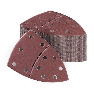 100x Delta Schleif dreieck e Schleifpapier Deltaschleifer 105 x 152 mm Klett 4