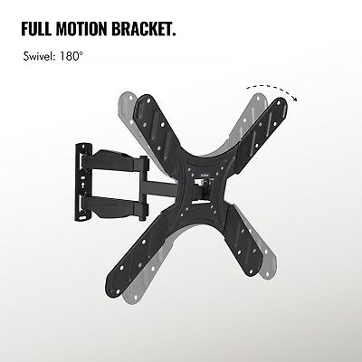 VonHaus 17-56 Inch TV Wall Bracket Mount - Tilt and Swivel Swing Arm Cantilever 6