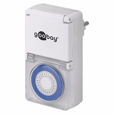2x Analoge Outdoor Zeitschaltuhr Analog Steckdose Uhr Schutz Außenbereich IP44 3