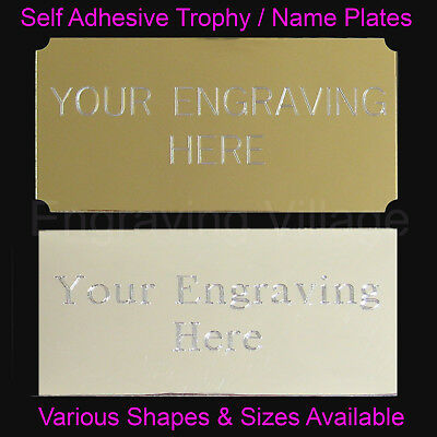 Engraved Trophy Plates / Metal Name Plaques / Labels - Engraved Free 2