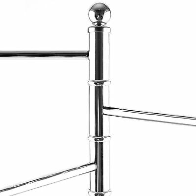 40 Inch Standing Stainless Steel Bathroom/Kitchen Towel Rack Stand w/ 3 Arms 3