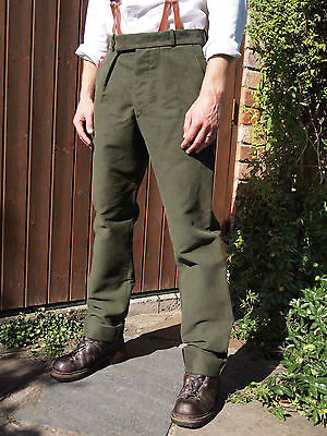 Fishtail Back Cotton Drill Trousers by Tails and the Unexpected Made in Wales