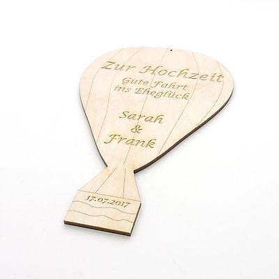 Hochzeitsgeschenk Heissluftballon Graviert Mit Name Vom Brautpaar Aus