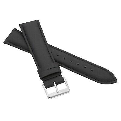 MARCHEL Lederarmband LLB Premium Glatt Silber Gold Schließe Uhrenarmband Uhr 2