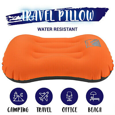 Air Pillow Inflatable Cushion Portable Head Rest Compact Travel Camping w/ Pouch 7