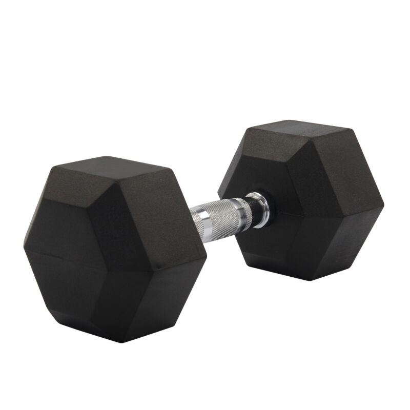 2X 8-15KG Rubber Encased Dumbbell Hex Weights Gym Fitness/Workout/Weight Lifting 7