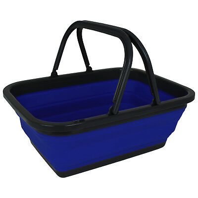 Faltbarer Korb DUNLOP Faltkorb 2 Griffe Tragekorb POP-UP Picknick Camping Kisten