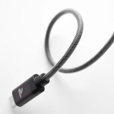 2x RAMPOW 1m Micro USB Kabel Schnell Ladekabel für Samsung S6 S7 Sony PS4 Huawei 4