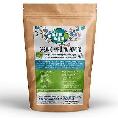 Organic Spirulina Powder high In Protein Cleanse & Detox Energy Immunity Booster 5
