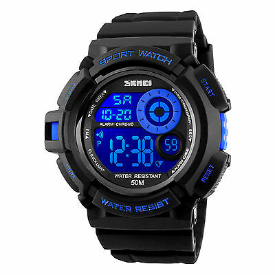 Men's Army SHOCK Sport Quartz Wrist Day Date Digital Watch Waterproof Military 5