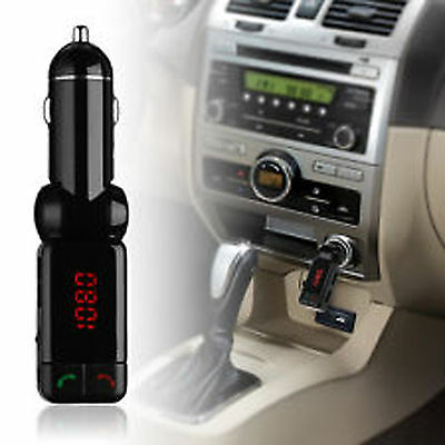 Wireless Bluetooth Car Kit FM Transmitter Handsfree Car Charger MP3 Player USB 9