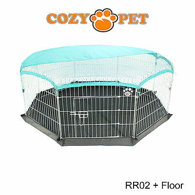 Cozy Pet Rabbit Run Play Pen Guinea Pig Dog Playpen Chicken Puppy Cage Hutch 5