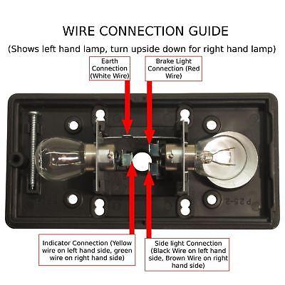 Britax Rear Trailer Light / Combination Lamp Lighting PAIR TR049 2