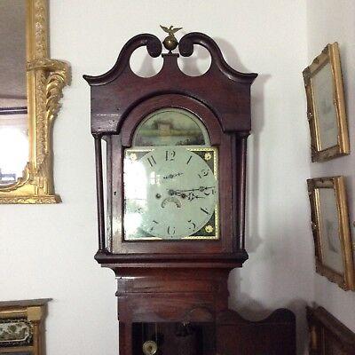 Antique Oak Grandfather Clock 11