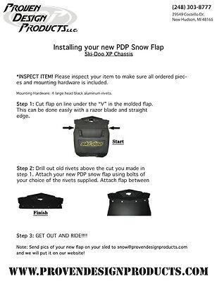 2008 Ski Doo Backcountry  XP 600//800 EXTREME Contour FLAP/_YELLOW SNOW FLAP