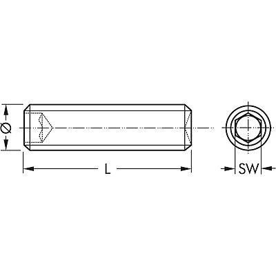 Madenschrauben mit Spitze DIN 914 M2 x 3 A2  V2A M2x3 ✔️ 25 St