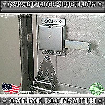 Universal Garage Door Inside Slide Lock Secure For All Residential