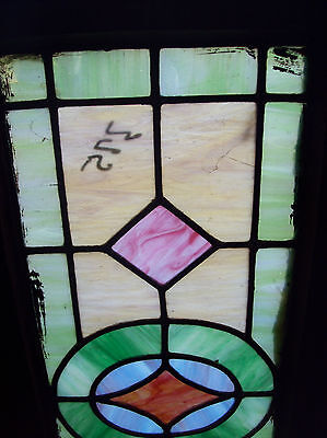 Simple arts and crafts stained glass window (SG 1201)