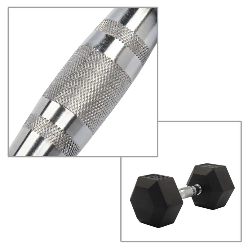 2X 8-15KG Rubber Encased Dumbbell Hex Weights Gym Fitness/Workout/Weight Lifting 9