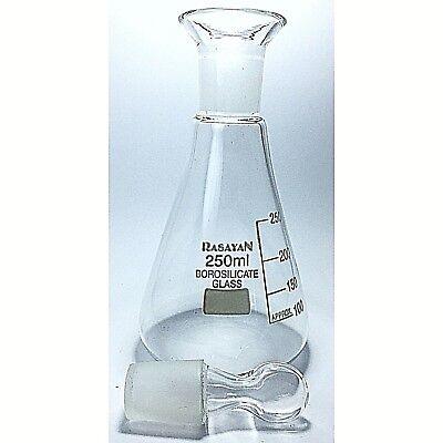 Iodine Flask Determination, Premium Borosilicate Glass 250ml 2