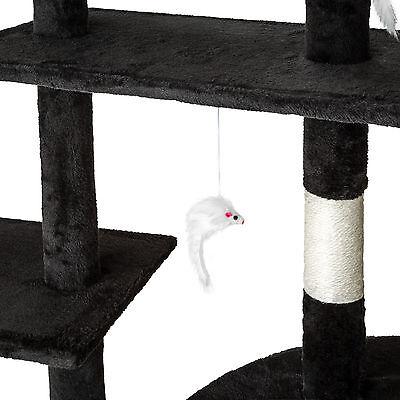 Arbre à chat xxl griffoir grattoir geant avec 2 grottes noir 5