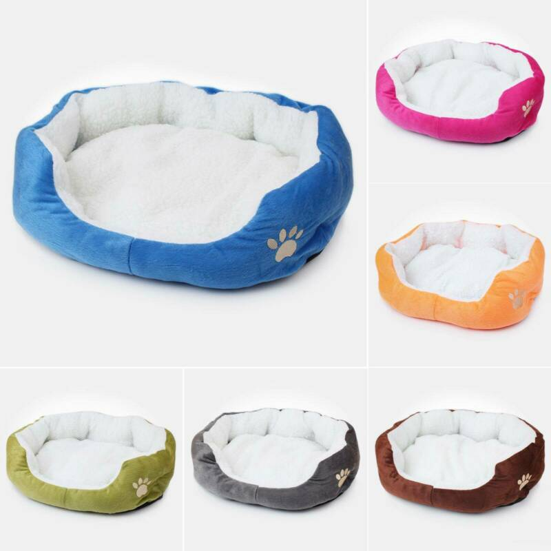 Deluxe Warm Soft Washable Dog Cat Pet Warm Basket Bed Cushion with Fleece Lining 5