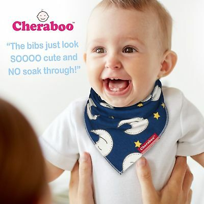 Baby Bibs Bandana Drool Bib 4 Pack by Cheraboo Gift Set Reversible & Soft 8