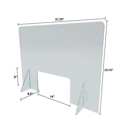 Sneeze Guard, Acrylic Plexiglass Barrier, Office, Counter, Retail, Desktop 4