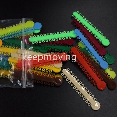 1040 Pcs Dental Orthodontics Elastic Ligature Ties Rubber Bands O-ring Braces 11