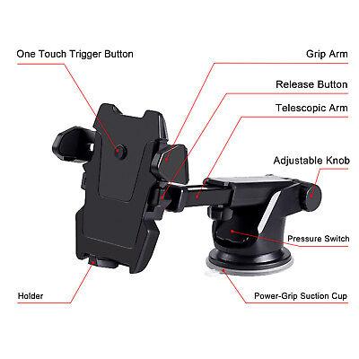 Universal 360° Windshield Mount Car Holder Cradle For GPS Mobile Smart Phone 4