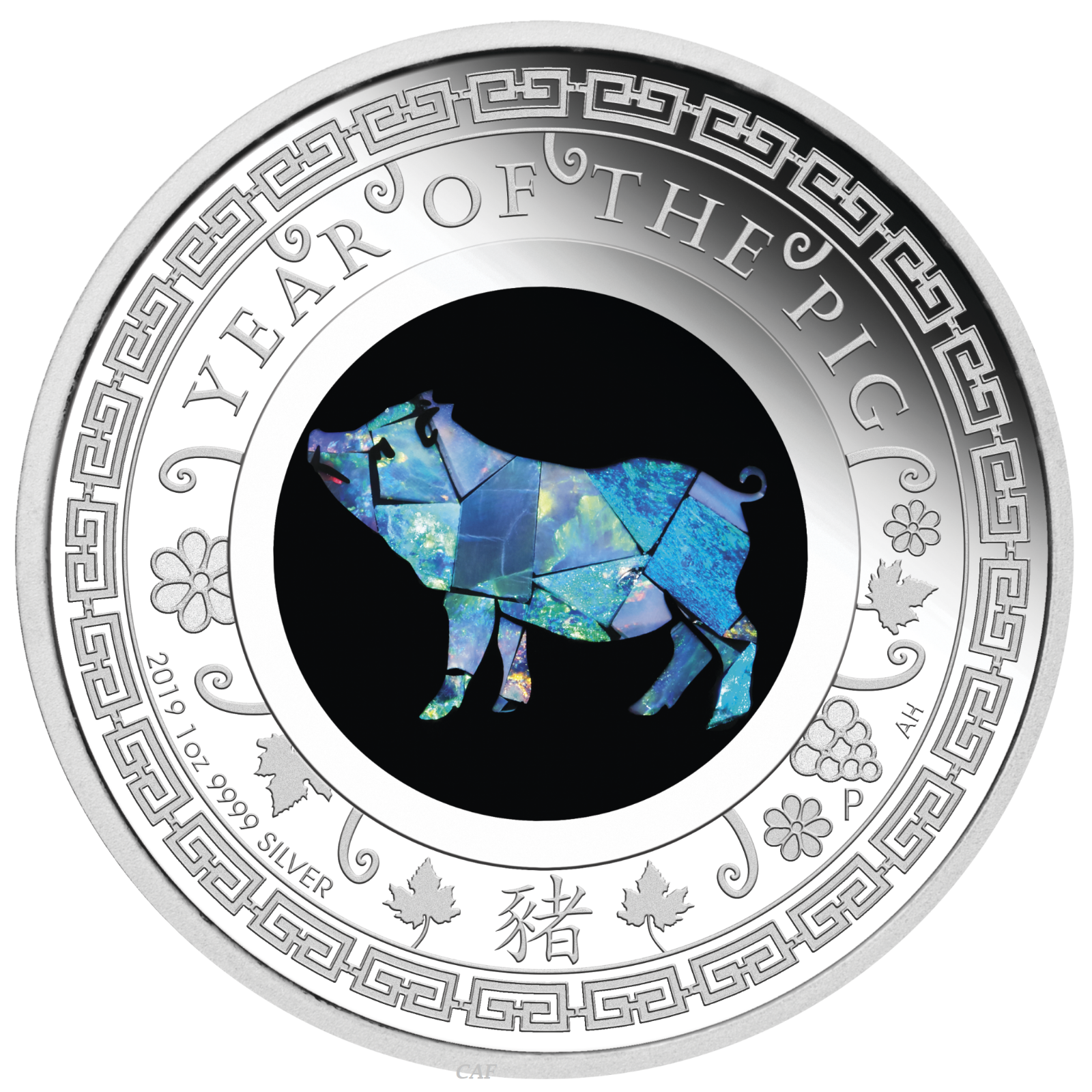 2019 Australia Opal Series Lunar Year of the PIG 1oz Silver Proof $1 Coin 5