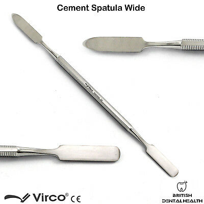 5X Dental Cement Spatula Wax Amalgam Mixing Spatula Wide German Stainless Ce 3