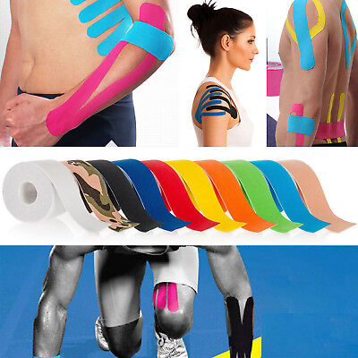 5M Sport Body Knee Rocktape Athletic Muscle Tape Physio Kinesiology Strapping UK 3