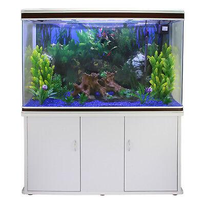 Aquarium à bords Blanc & Noisette, Meuble de support Blanc