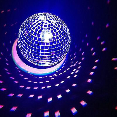 5/10/20/30/40cm Disco Mirror Ball DJ Light Silver Dance Party Stage Lighting Eve 3