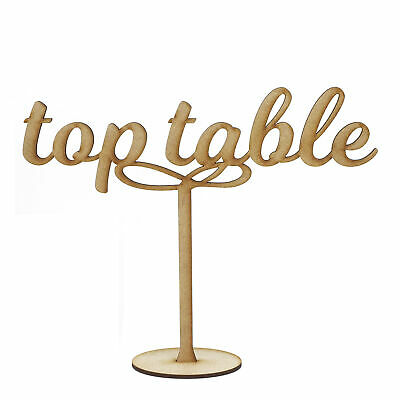 Wooden MDF Table Numbers - 15CM Weddings Parties Gold Silver Natural Black 3