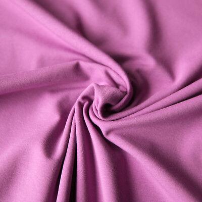Jersey Stoff einfarbig | Uni Stoff | Top - Qualitäts - Baumwolljersey | Öko-Tex 3